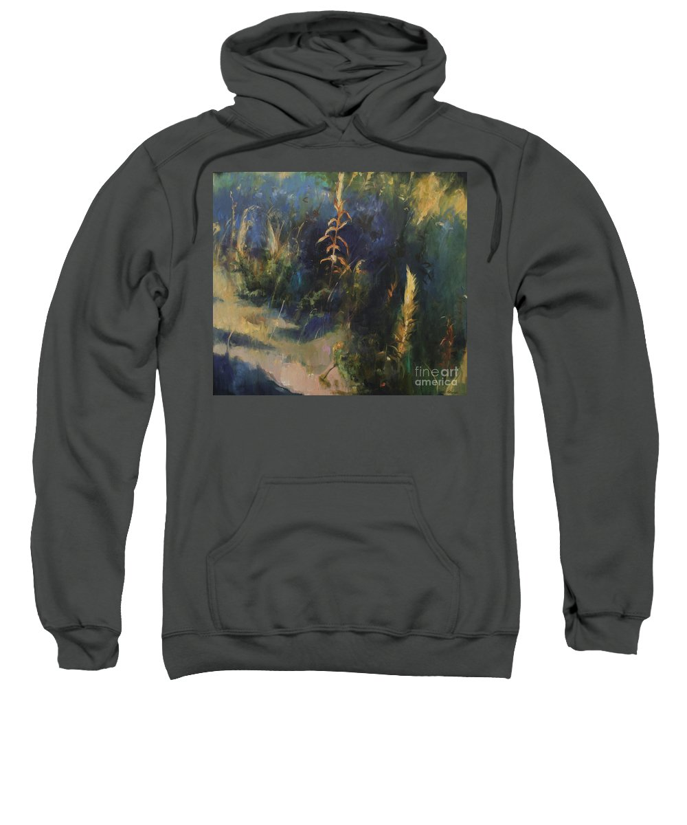 Lin Petershagen Sweatshirt featuring the painting Sunny Day by Lin Petershagen