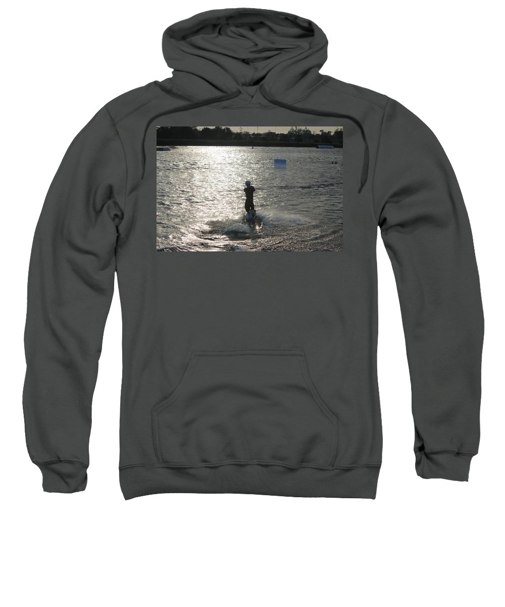 Sun Sweatshirt featuring the photograph Sunny Waves by Rob Hans