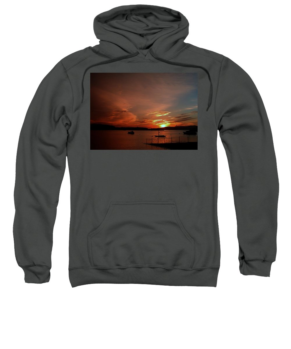 Sunraise Sweatshirt featuring the photograph Sunraise Over Lake by Cliff Norton