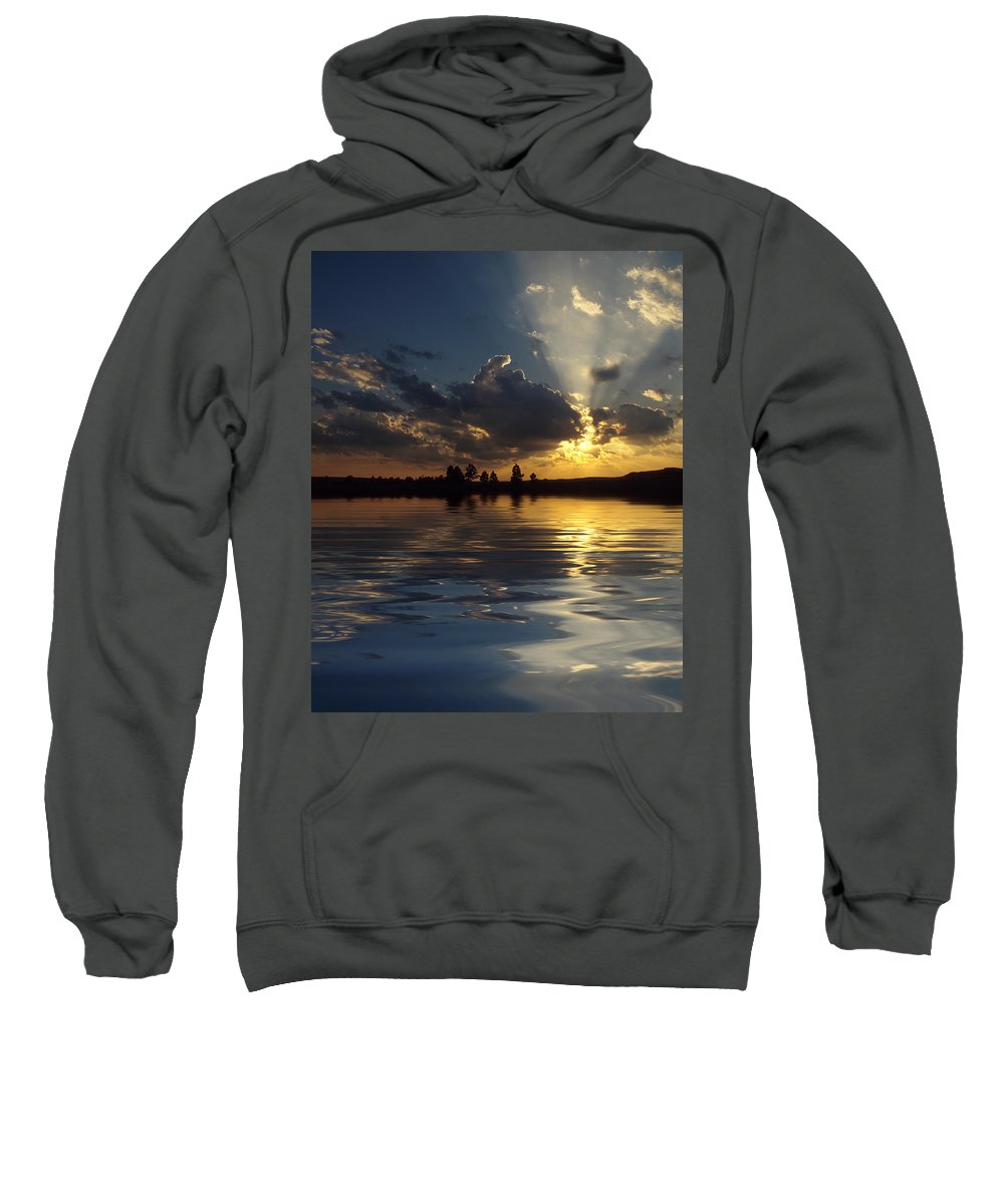 Sunset Sweatshirt featuring the photograph Sunray Sunset by Jerry McElroy
