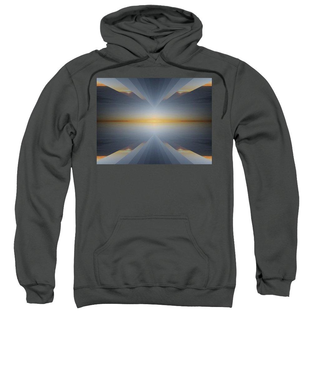 Sunrise Sweatshirt featuring the digital art Sunrise At 30k 5 by Tim Allen
