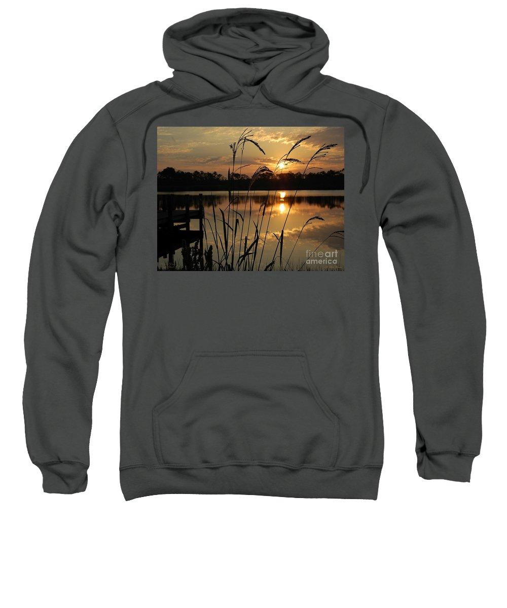 Sunrise Sweatshirt featuring the photograph Sunrise At Grayton Beach by Robert Meanor