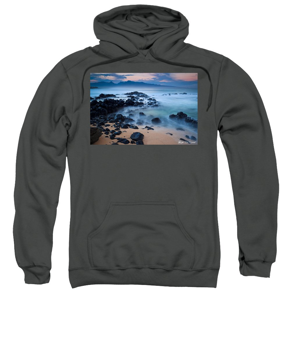 Ho'okipa Sweatshirt featuring the photograph Sunrise At Ho'okipa - Sunrise At Hookipa Beach In Maui by Nature Photographer