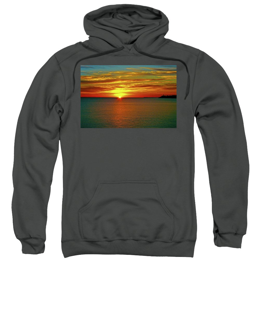 North America Sweatshirt featuring the photograph Sunrise At Matane by Juergen Weiss