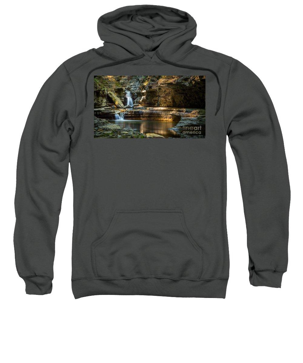Watkins Sweatshirt featuring the photograph Sunrise At Watkins Glen by Brad Marzolf Photography