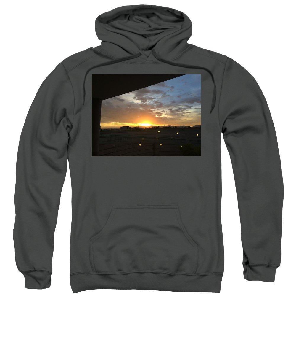 Sunrise Sweatshirt featuring the photograph Sunrise Before Class by Bekka Fortier