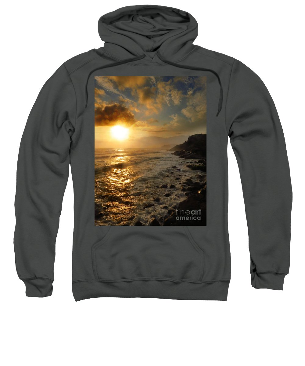 Sunrise Sweatshirt featuring the photograph Sunrise By The Rocks by James Hennis