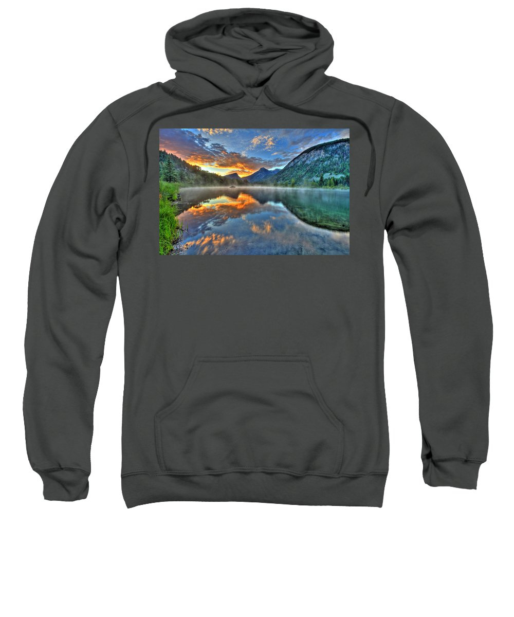 Colorado Sweatshirt featuring the photograph Sunrise Lake by Scott Mahon