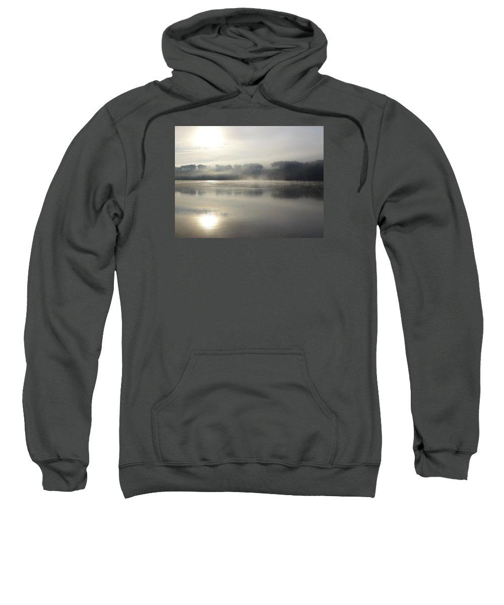 Hudson River Sweatshirt featuring the photograph Sunrise On The Hudson River No 9 by Cheryl Kurman