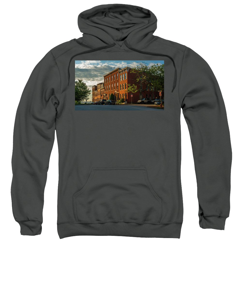 Baltimore Sweatshirt featuring the photograph Sunrise Over Federal Hill by Jim Archer