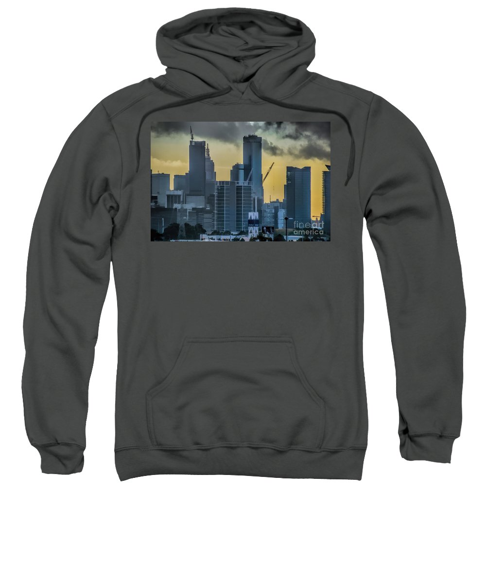 Sunrise Sweatshirt featuring the photograph Sunrise Over Melbourne by Diana Mary Sharpton