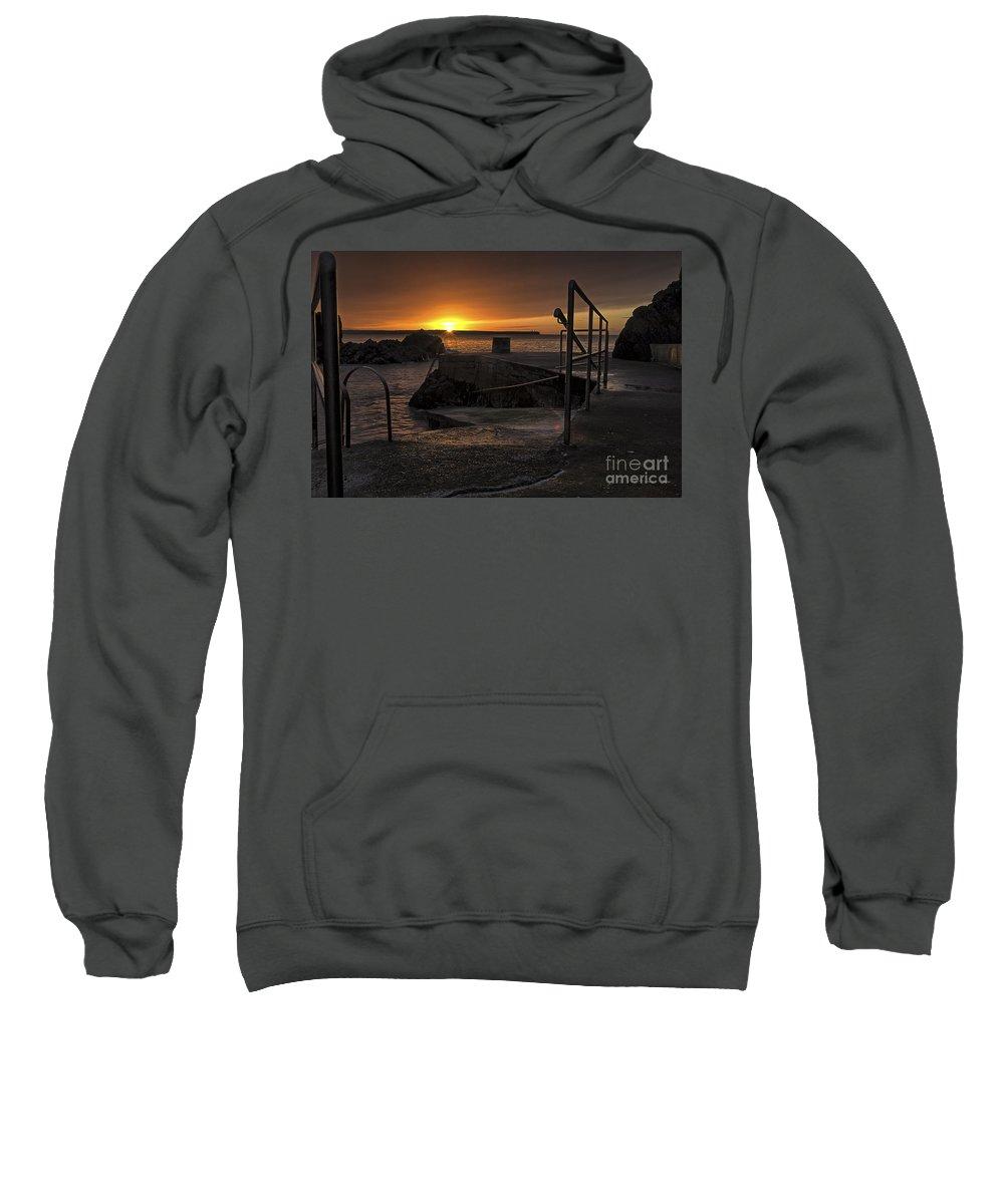 Sunrise Sweatshirt featuring the photograph Sunrise Tramore by Leah Burgess
