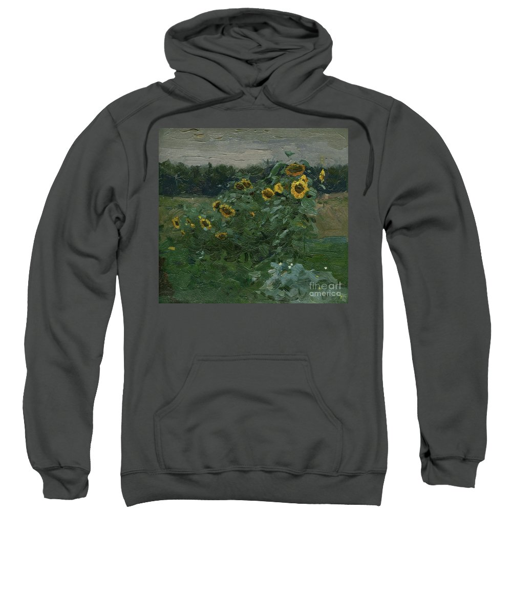 Suns Sweatshirt featuring the painting Suns by Simon Kozhin