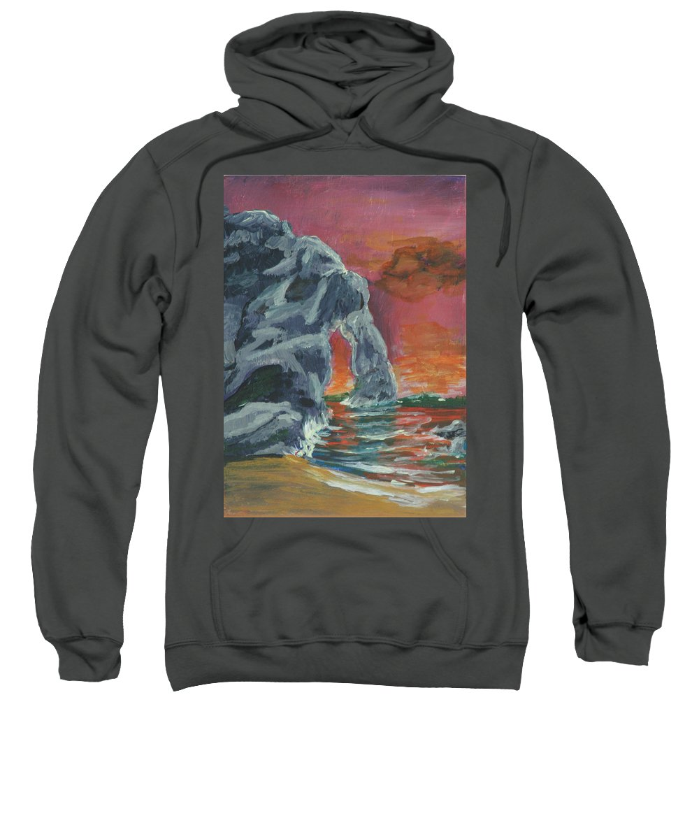 Suns Up! Sweatshirt featuring the painting Suns Up by Gail Daley