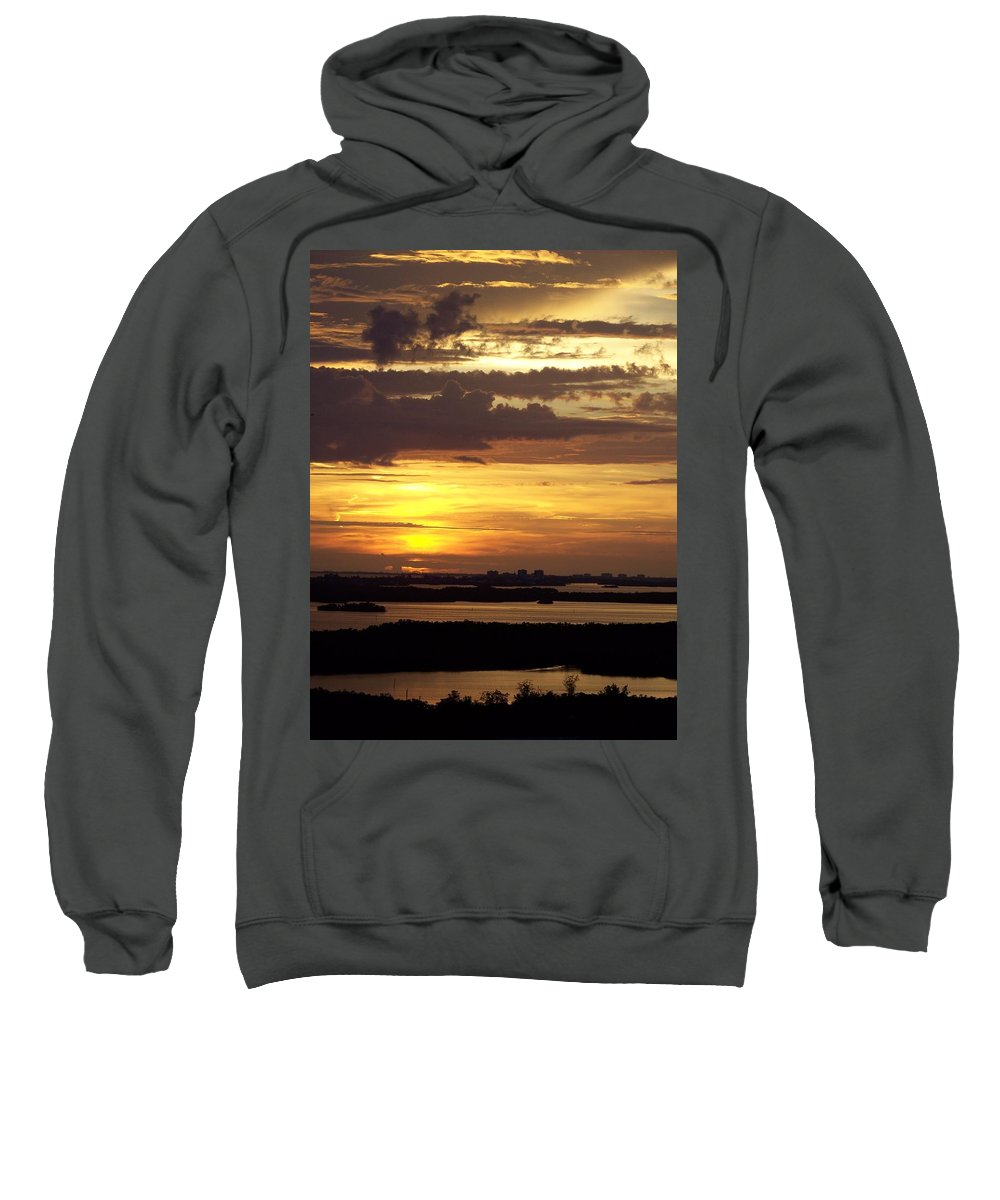 Sunset Sweatshirt featuring the photograph Sunset 0001 by Laurie Paci