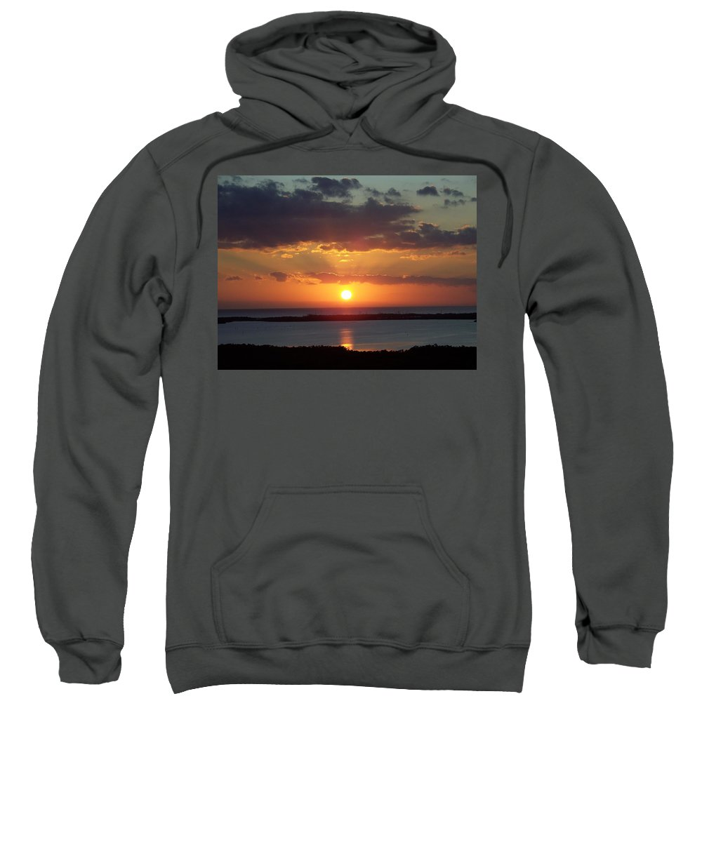 Sunset Sweatshirt featuring the photograph Sunset 0013 by Laurie Paci