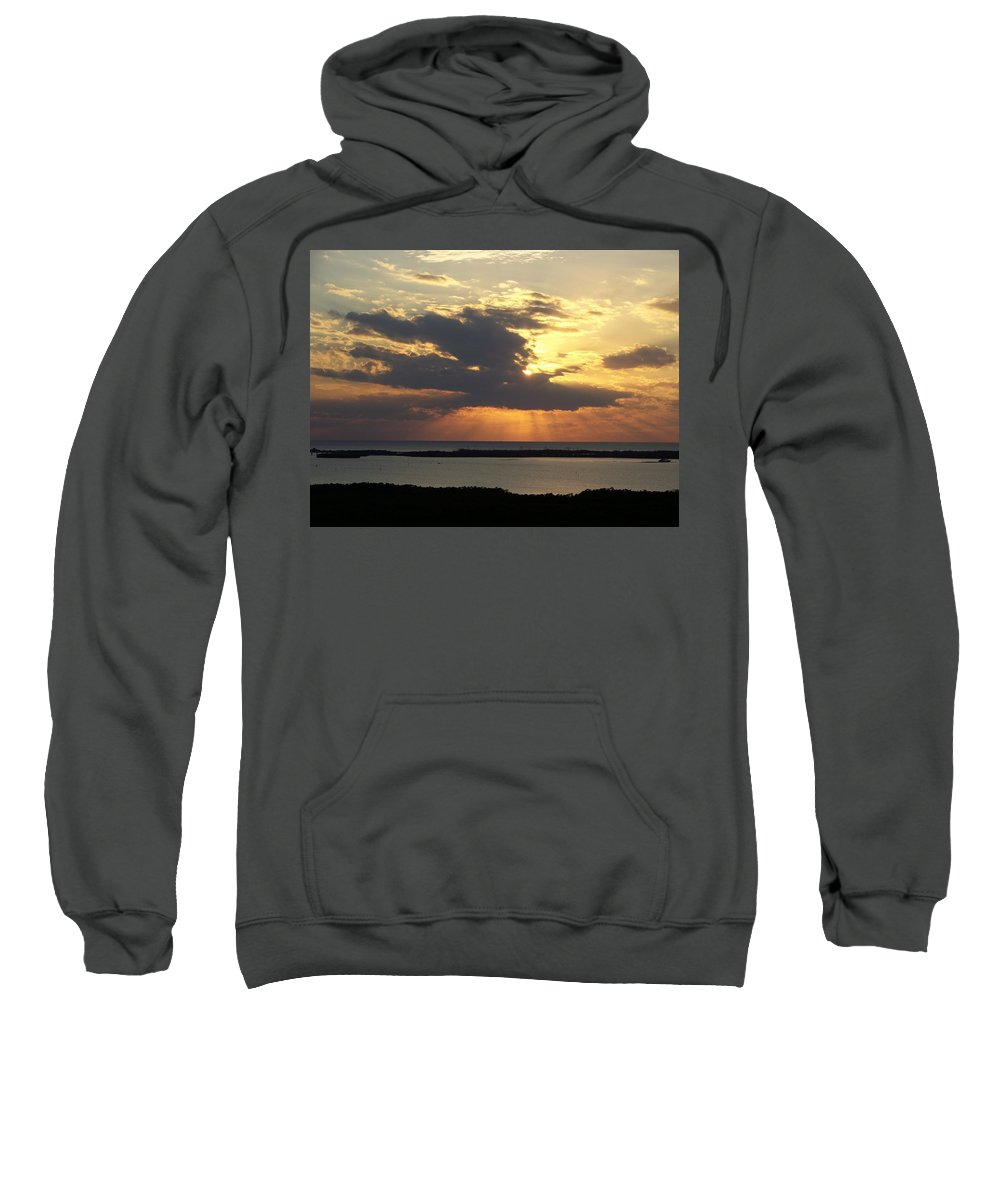 Sunset Sweatshirt featuring the photograph Sunset 0036 by Laurie Paci