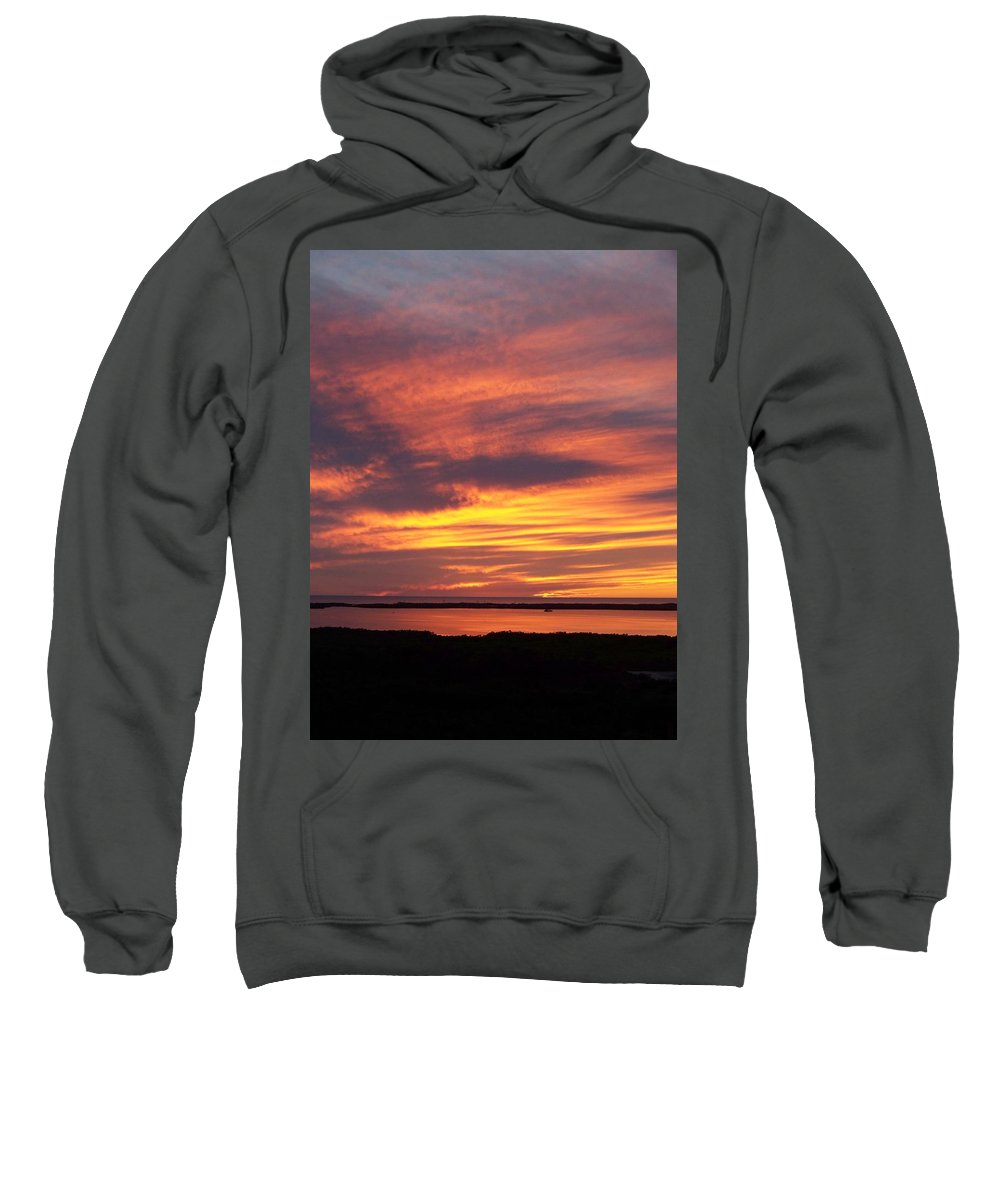 Sunset Sweatshirt featuring the photograph Sunset 0037 by Laurie Paci