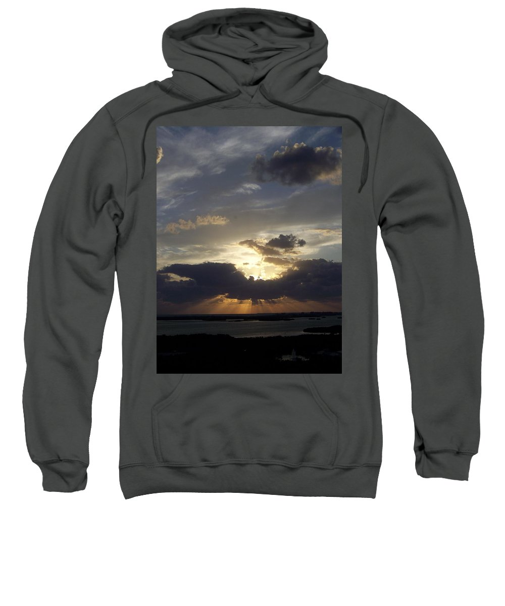 Sunset Sweatshirt featuring the photograph Sunset 0044 by Laurie Paci