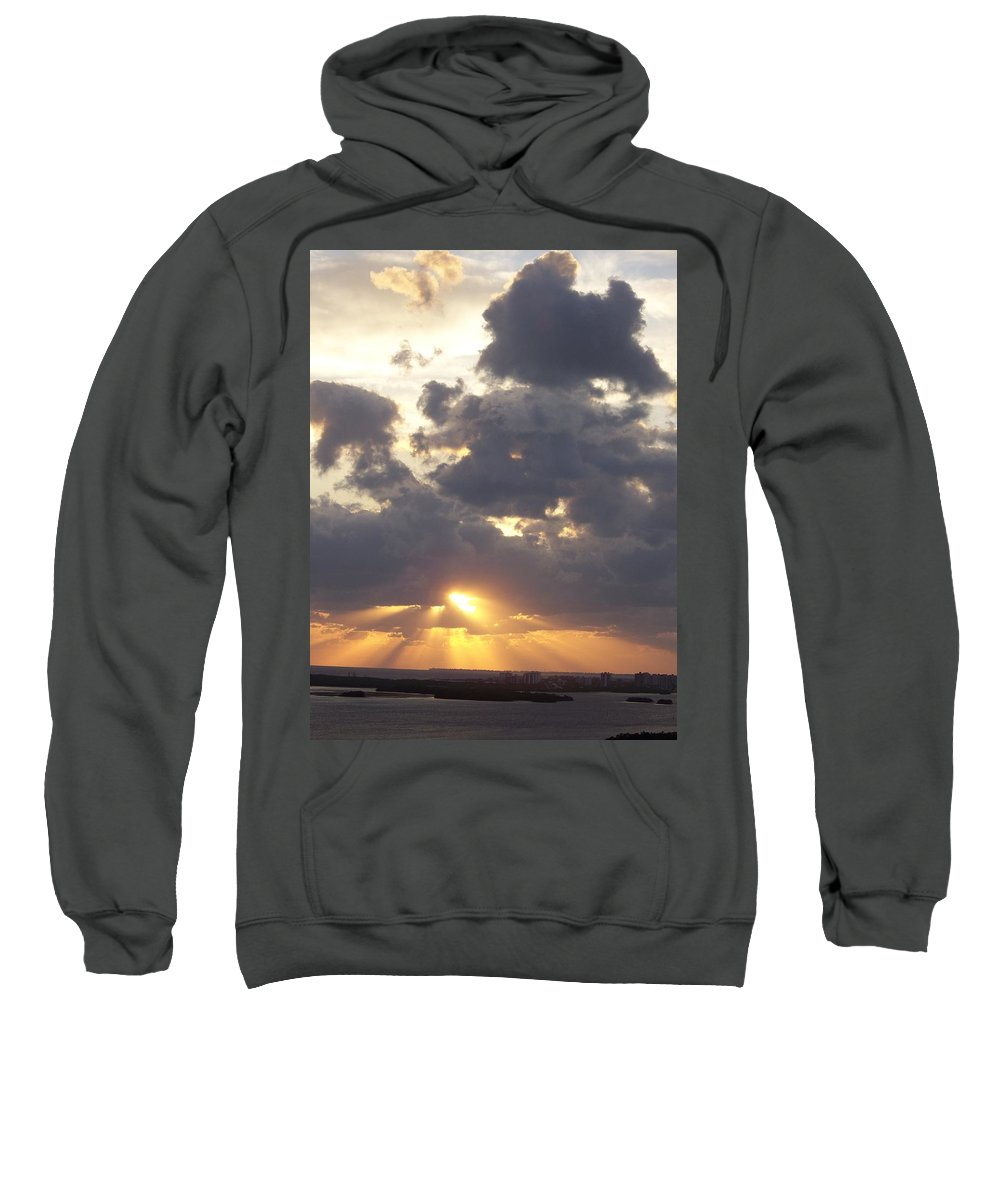 Sunset Sweatshirt featuring the photograph Sunset 0045 by Laurie Paci