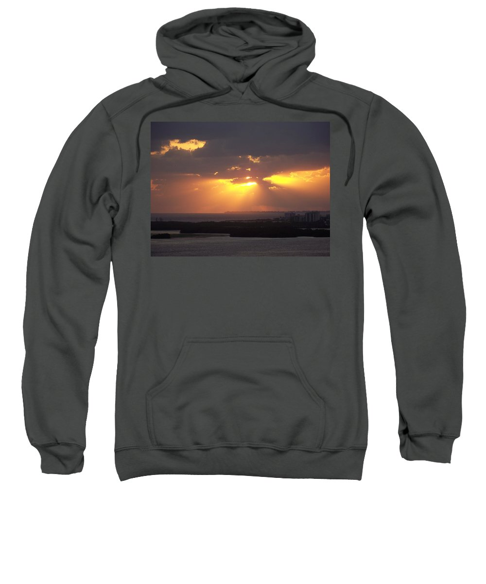 Sunset Sweatshirt featuring the photograph Sunset 0047 by Laurie Paci