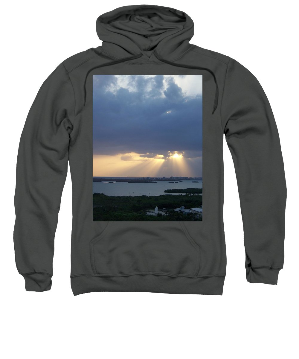 Sunset Sweatshirt featuring the photograph Sunset 0048 by Laurie Paci