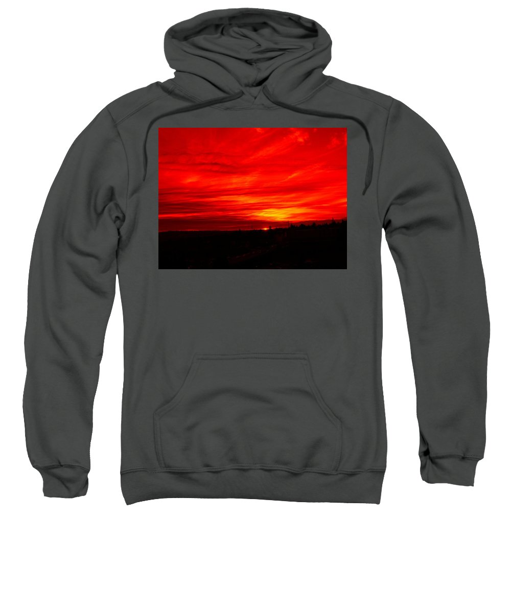 Seattle Sweatshirt featuring the digital art Sunset 2 by Tim Allen