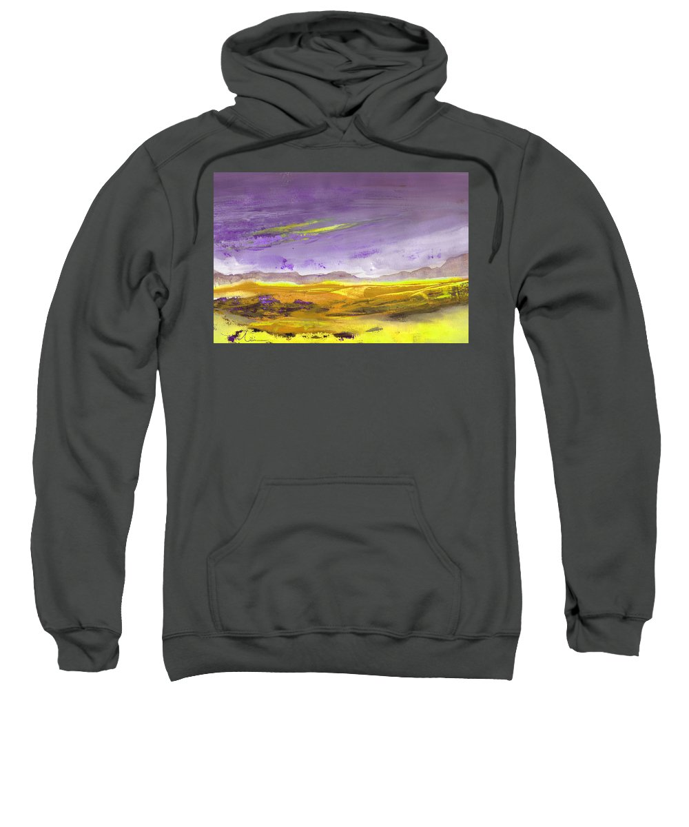 Landscapes Sweatshirt featuring the painting Sunset 30 by Miki De Goodaboom