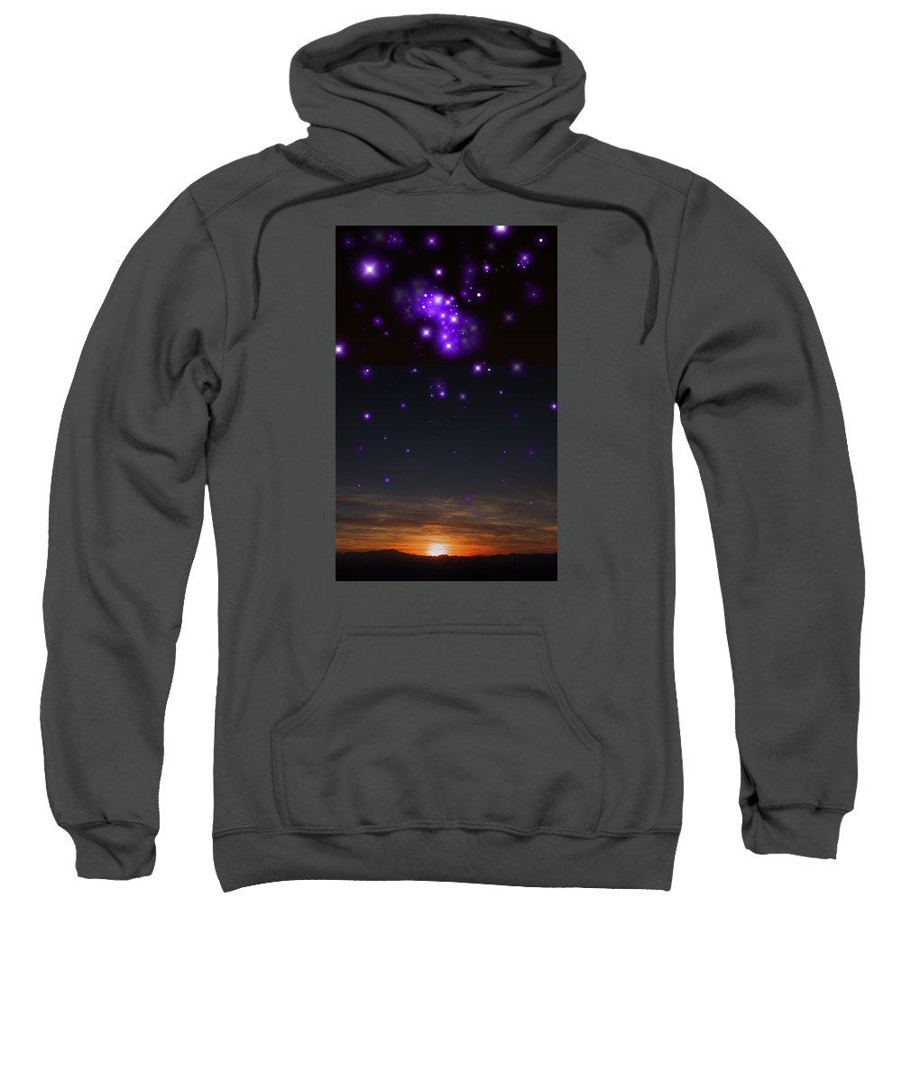 Sunset Sweatshirt featuring the photograph Sunset And Stars by Richard Rutan