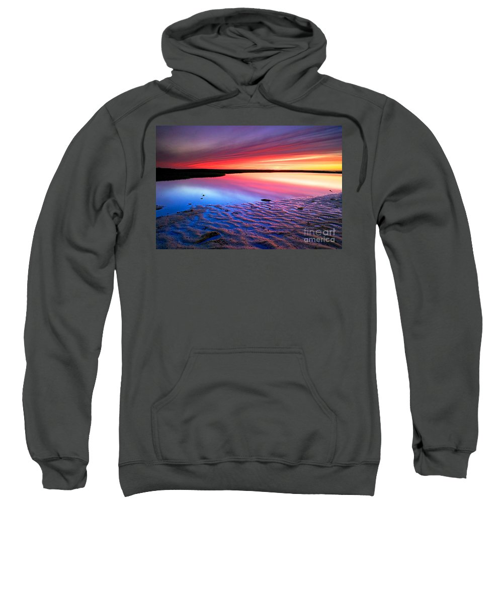 Sunset Sweatshirt featuring the photograph Sunset At Paines Creek Cape Cod by Matt Suess