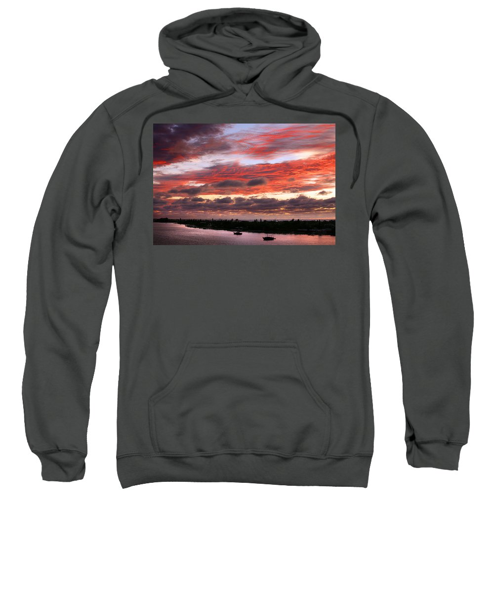 Sun Sweatshirt featuring the photograph Sunset At Pass A Grille Florida by Mal Bray