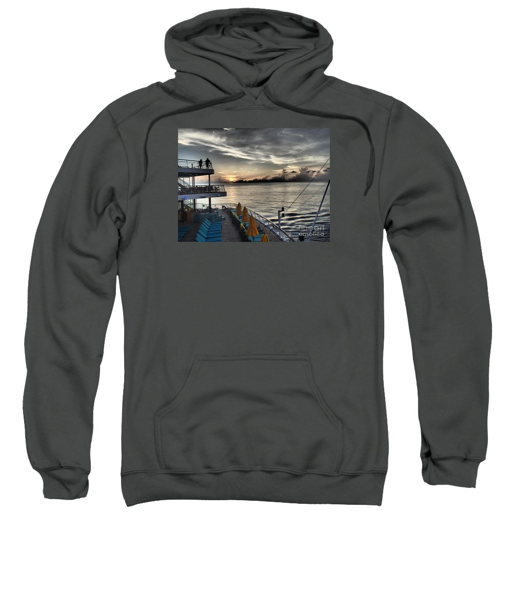 Sunset Sweatshirt featuring the photograph Sunset At Sea II by Francine Mabie
