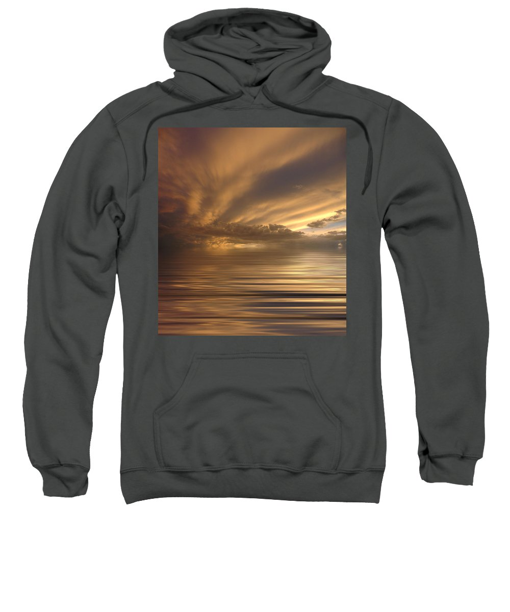Sunset Sweatshirt featuring the photograph Sunset At Sea by Jerry McElroy