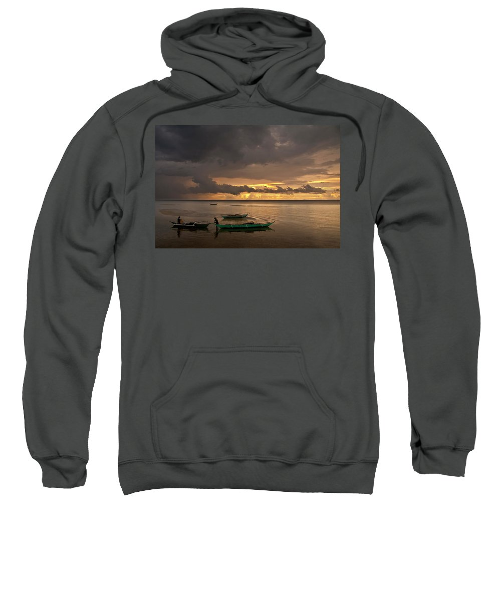 Seascape Sweatshirt featuring the photograph Sunset At Tabuena Beach 1 by George Cabig