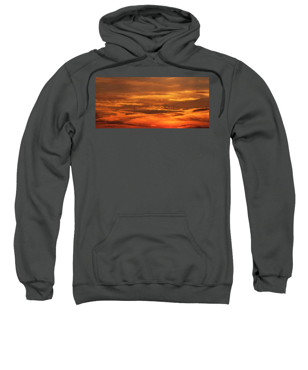 Sunset Sweatshirt featuring the photograph Sunset Clouds On Fire by Steven Natanson