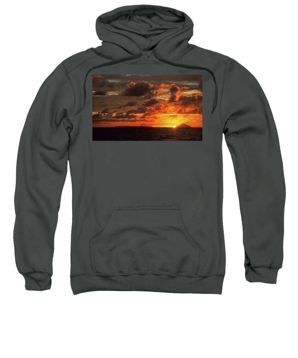 Sunset Sweatshirt featuring the photograph Sunset Clouds by Steve Williams