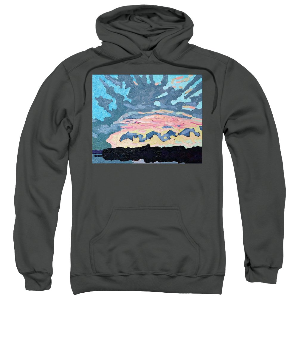 Cold Sweatshirt featuring the painting Sunset Cold Front by Phil Chadwick