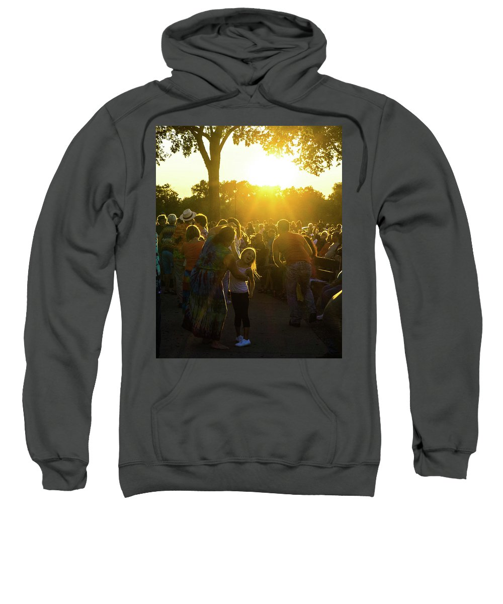 Sweatshirt featuring the photograph Sunset Dancing by Anthony Dooley