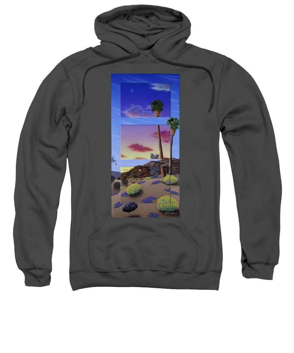 Landscape Sweatshirt featuring the painting Sunset Door by Snake Jagger