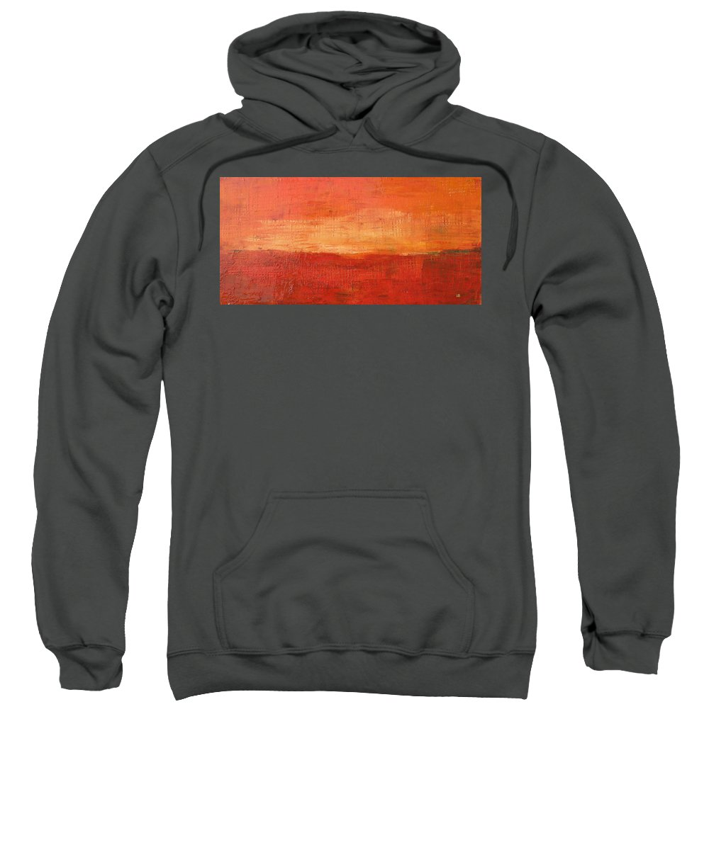 Abstract Sweatshirt featuring the painting Sunset by Habib Ayat