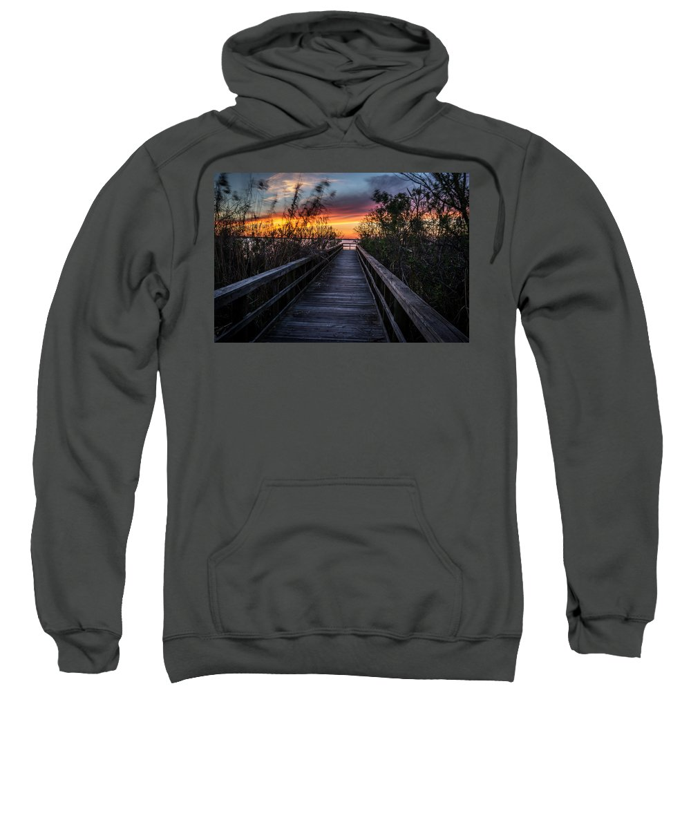 Sunset Sweatshirt featuring the photograph Sunset In Meaher Park #102 by Larry Palmer