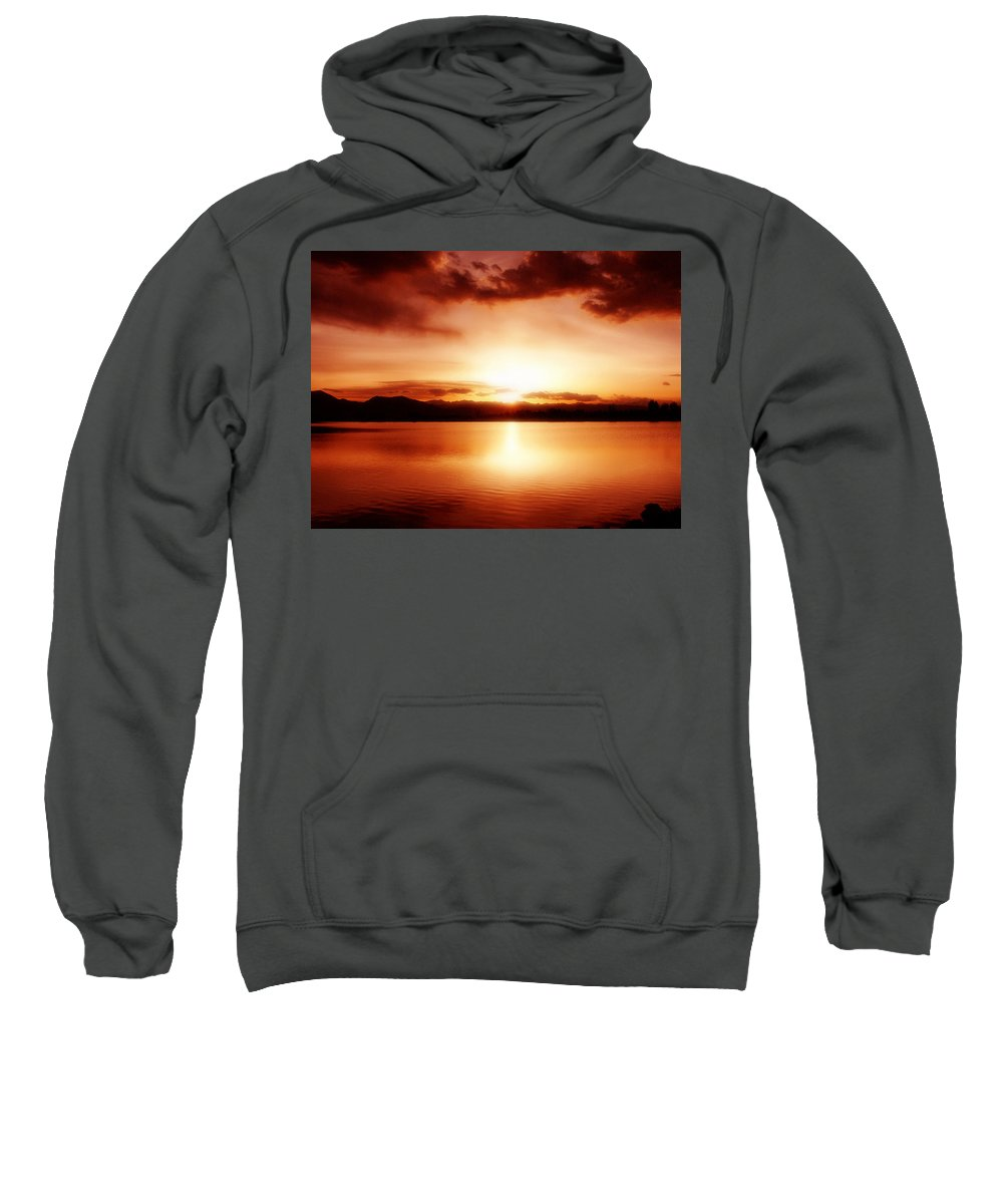 Lake Sweatshirt featuring the photograph Sunset by Marilyn Hunt