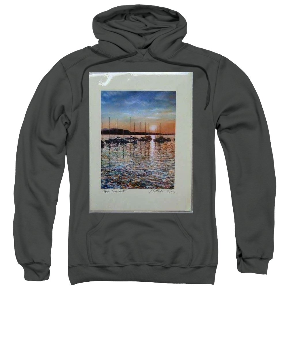 Sweatshirt featuring the painting Sunset by Matthew Evans