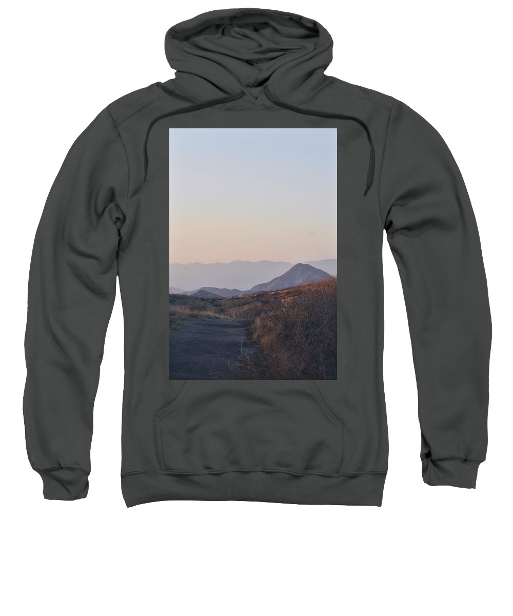 Mountain Sweatshirt featuring the photograph Sunset Mountains by Sarah Kirby