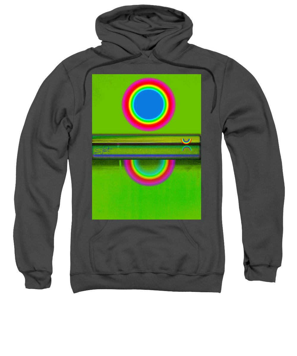 Reflections Sweatshirt featuring the painting Sunset On Green by Charles Stuart