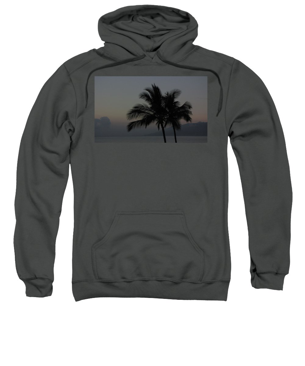Sunset Sweatshirt featuring the photograph Sunset Palm by Sarah Houser