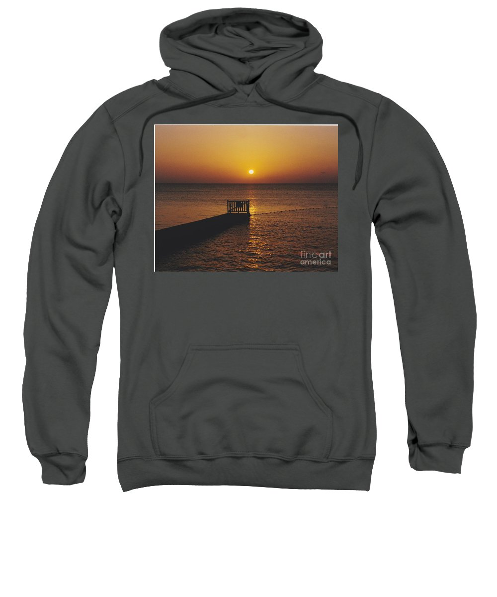 Sunsets Sweatshirt featuring the photograph Sunset Pier by Michelle Powell