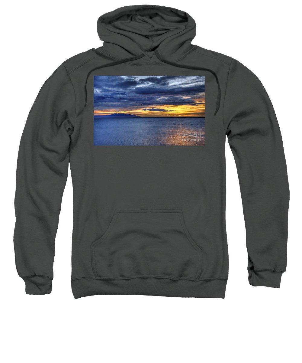 Landscape Sweatshirt featuring the photograph Sunset Seascape Alaska by John Greim