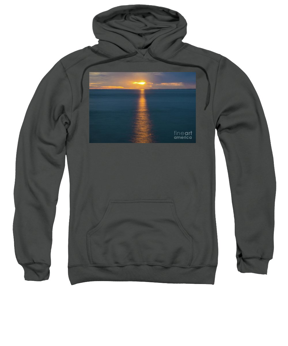 Sun Sweatshirt featuring the photograph Sunset Streaks by Minimalist Prints