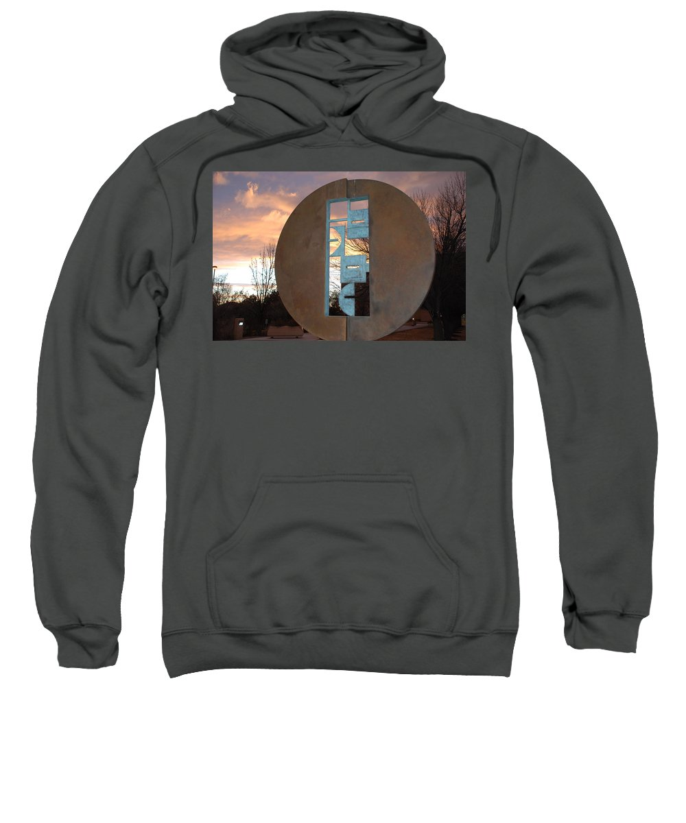 Pop Art Sweatshirt featuring the photograph Sunset Thru Art by Rob Hans